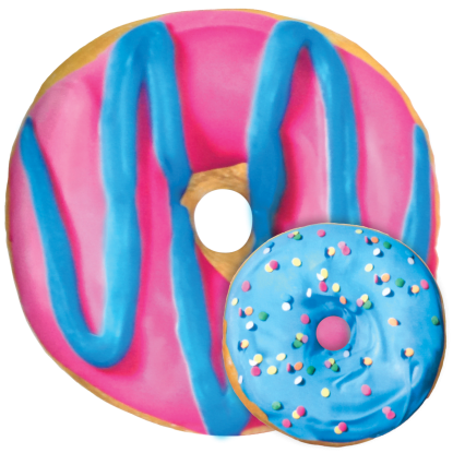 Picture of Blue and Pink Donut Scented Microbead Pillow