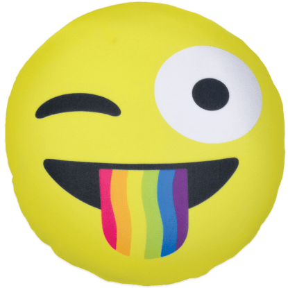 Picture of Crazy Face Emoji Microbead Pillow
