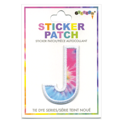 Picture of J Initial Tie Dye Sticker Patch