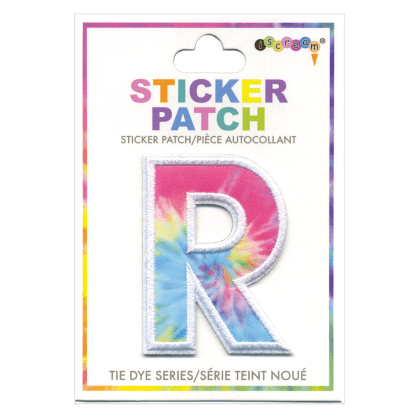 Picture of R Initial Tie Dye Sticker Patch
