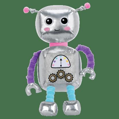 Picture of Rosie Robot Metallic and Fleece Bestie Pillow
