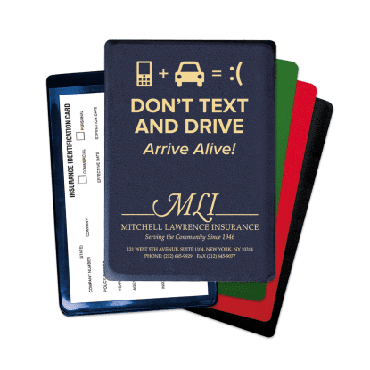 "Picture of ""Don't Text & Drive"" Insurance Card Holder"