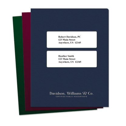 Picture of Centered Double Window Tax Software Folders
