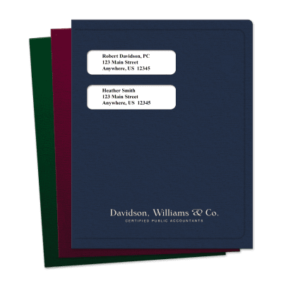 Picture of Small Windows Software Compatible Tax Folders