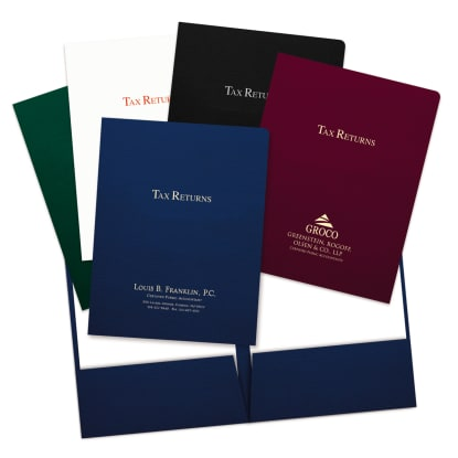 Picture of Foil-Stamped Tax Return Folders
