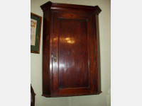 Mahogany and fruitwood Corner Cupboard