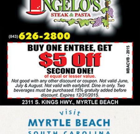 Angelo's Steak & Pasta - Buy One Entree, Get $5 Off Second One