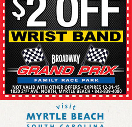 Broadway Grand Prix - $2 Off Wrist Band