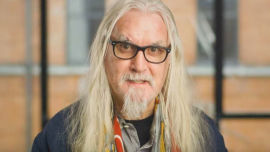 Much-loved comedian Billy Connolly in the Comic Relief video.