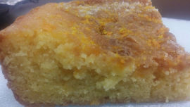 This is all that was left of the large 24x20 slab of orange cake brought into the office.