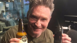 Dave Hughes loving the alcohol free kombucha image: supplied.
