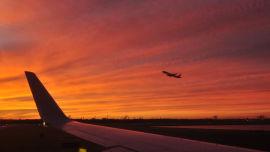 Sunrise at Sydney Airport.