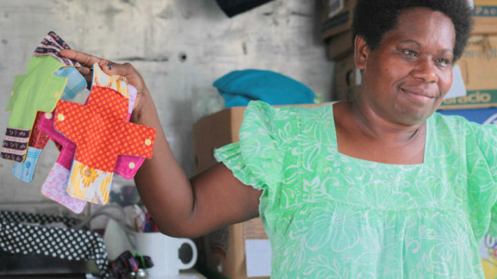 Reusable sanitary pads are changing lives.