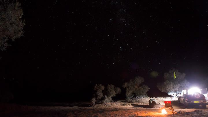 One of my campsites in the Simpson Desert.