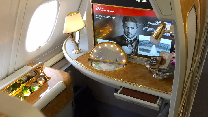 The Emirates first-class suite.