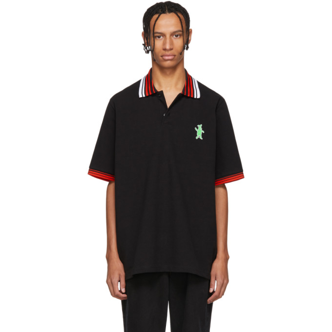 Black & Red Bunny Polo