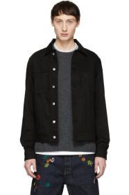 아크네 스튜디오 Acne Studios Black Blå Konst Denim Pass Jacket
