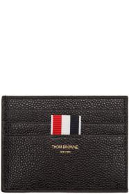 Thom Browne 톰 브라운 Black Leather Card Holder