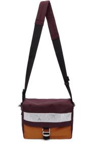 아크네 스튜디오 Acne Studios Burgundy Blå Konst Contrast Bag
