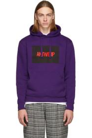 Purple Box Logo Hoodie