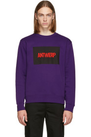 Purple Box Logo Sweatshirt