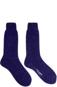 Junya Watanabe Blue Sparkle Socks