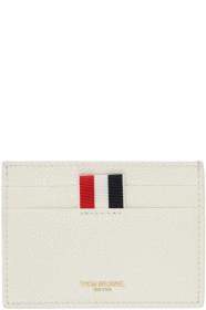Thom Browne 톰 브라운 SSENSE Exclusive White Single Card Holder