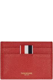 Thom Browne 톰 브라운 SSENSE Exclusive Red Single Card Holder