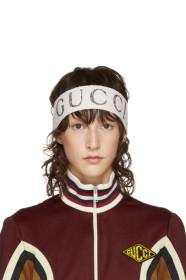 구찌 Gucci Ivory Logo Headband