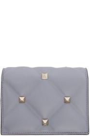 Blue 발렌티노 Valentino Garavani Candystud Flap French Wallet