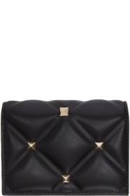 Black 발렌티노 Valentino Garavani Candystud Flap French Wallet