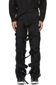 Black Strap Trousers
