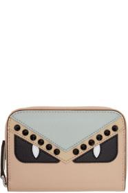 펜디 Fendi Multicolor Bag Bugs Elite Mini Zip Wallet