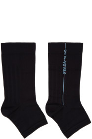 프라다 Prada Black Cut-Out Toe Socks