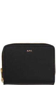 아페쎄 A.P.C. Black Emmanuelle Compact Wallet