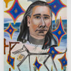Anna Glantz, Mike Kelley Winter, 2016, oil on canvas, 70 x 55 in. (177.8 x 139.7 cm)
