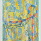 Gabriel Hartley, Magnifier, 2014, oil and spray paint on canvas, 63 × 47 in.