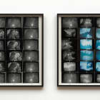 Ellen Cantor, Hold Me My Love, I Want to Die With You, 1996, photo collage, diptych, framed, 27 x 26 1/2 in. each, unique, EC_FP3564