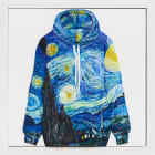 Gina Beavers, Van Gogh Hoodie, 2018, acrylic on canvas on panel, 30 x 30 in.