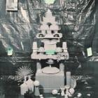Sara Cwynar, Islamic Dome (Plastic Cups), 2014, chromogenic print mounted on Plexiglas, 30 x 24 in. (76.2 x 60.96 cm)