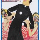 Juan Davila, Fig. 198, 2016, acrylic on photographic paper, 38 x 24 1/4 in. (99 × 62 cm.)