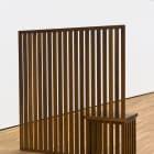 Stephen Lichty, Screen, 2016, black walnut and tung oil, 63 x 59 x 18 in. (160.02 x 149.86 x 45.72 cm)