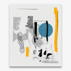 Michael Bell-Smith, Yellow Links, 2017, machine cut vinyl on Dibond, 54 x 45 in.(137.16 x 114.3cm.)