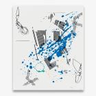 Michael Bell-Smith, Cut (Blue Splash, Spacer, Red Splash, Repeat), 2017 (detail.)
