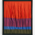 Simone Gilges, Materialprobe III (Vorhang III), 2008, silk, framed, 19 3/4 x 24 in. (50 x 60 cm.,) SG_FP1579