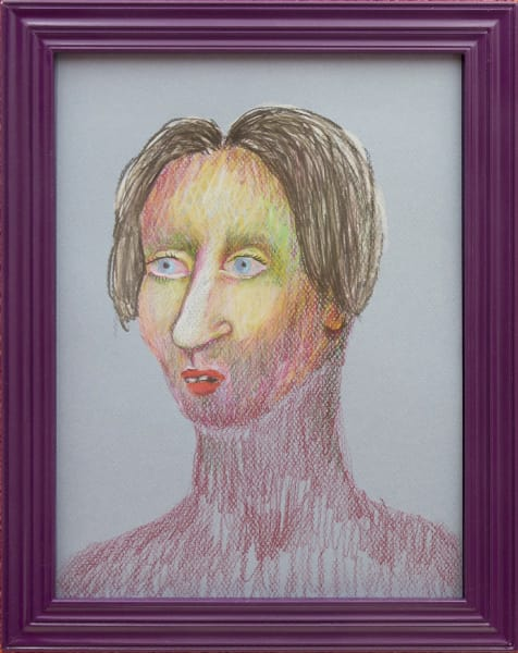 Ann Hirsch, Adric, 2015, colored pencil and graphite on paper, artist's frame, 11 x 9 in.  (27.9 x 22.9 cm.)
