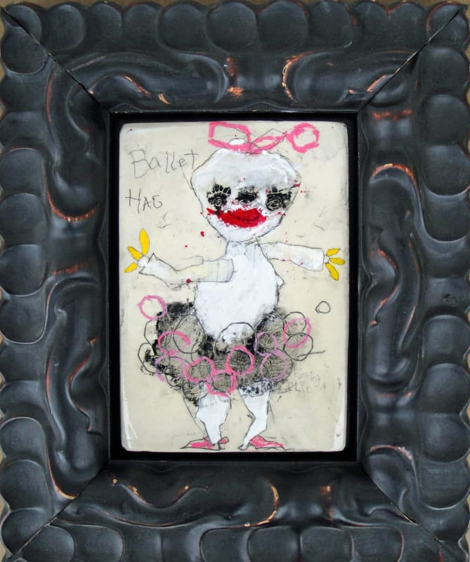 Ballet Hag, by Richard Campiglio, mixed media 8x12 in framed 2013