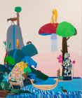Dream of Primeval Waters (Sobek-re, Marduk, and Ba), 62 x74 inches, oil on linen, 2013.