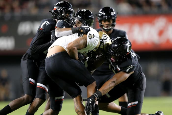 No. 7 Cincinnati (7-0) at UCF (5-2), Saturday, 3:30 p.m., ESPN