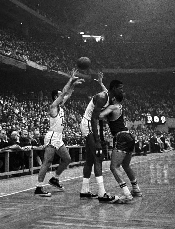 Bill Russell and Bob Cousy, Boston Celtics